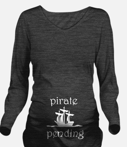 Pirate Pending Long Sleeve Maternity T-Shirt