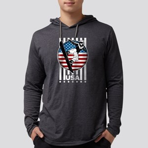 USA Snowboarder Team Mens Hooded Shirt