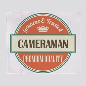 cameraman vintage logo Throw Blanket