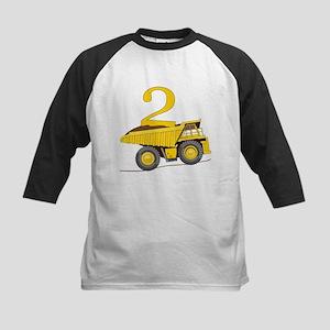 Dump Truck 2nd Birthday Baseball Jersey