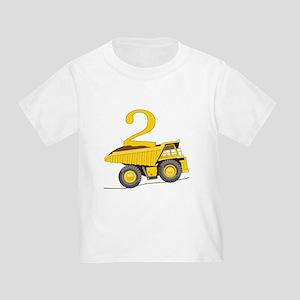 Dump Truck 2nd Birthday T-Shirt