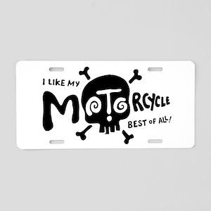 Like My Bike Aluminum License Plate