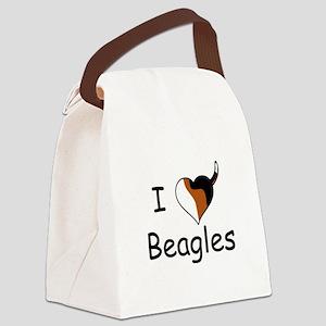 I Heart Beagles 12823262 Canvas Lunch Bag