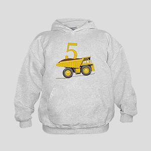 Dump Truck 5th Birthday Kids Hoodie