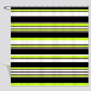 Horizontal Stripes Pattern: Chartre Shower Curtain