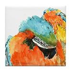Blue-Gold Macaw Tile Coaster