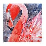 Flamingo Celebration Tile Coaster
