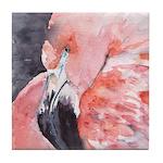 Flamingo Tile Coaster