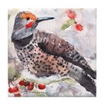 Flicker Woodpecker Tile Coaster