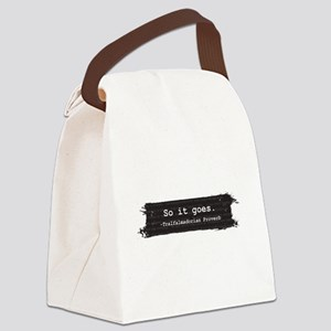 So it Goes Canvas Lunch Bag