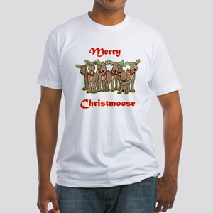 Merry Christmoose Fitted T-Shirt