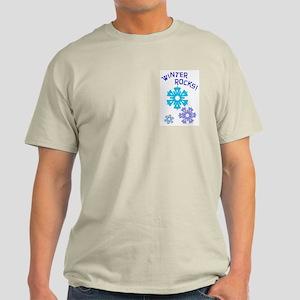 Winter Rocks Pocket Image Light T-Shirt