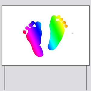 Rainbow Baby Feet Yard Sign