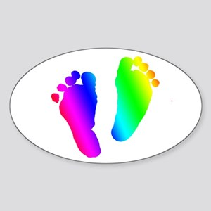 Rainbow Baby Feet Sticker