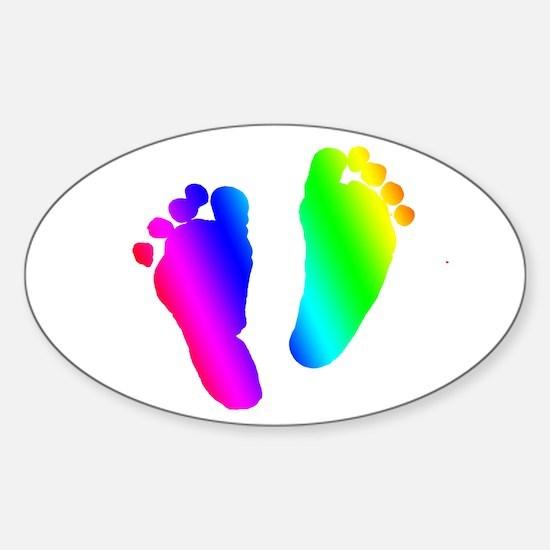 Rainbow Baby Feet Decal