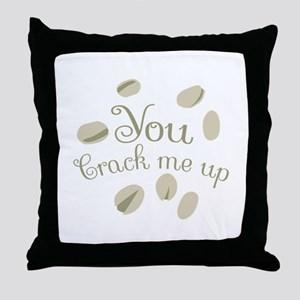 You Crack Me Up Throw Pillow
