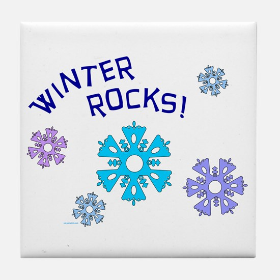 Winter Rocks Tile Coaster