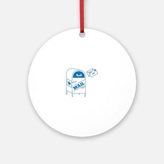 Postal Mail Round Ornament