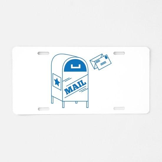 Postal Mail Aluminum License Plate