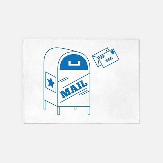 Postal Mail 5'x7'Area Rug