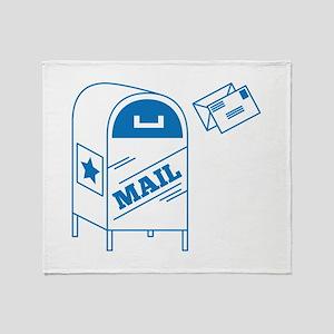 Postal Mail Throw Blanket