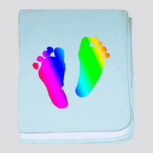 Rainbow Baby Feet baby blanket