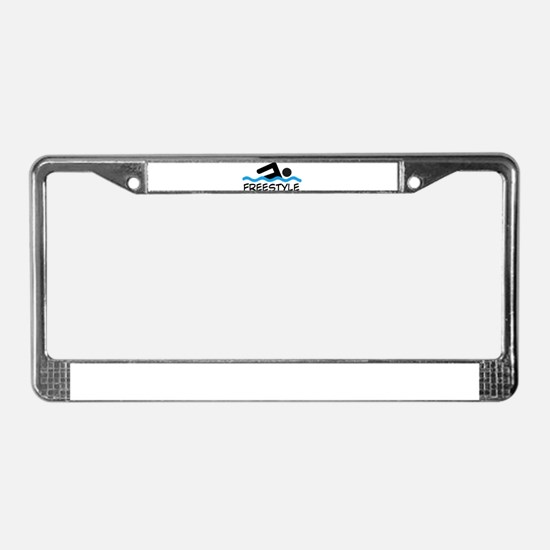 Cute Swimmer License Plate Frame