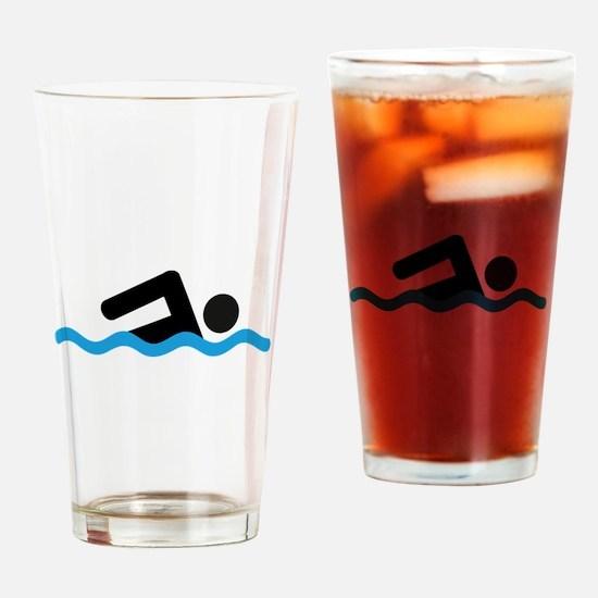 Unique Swim Drinking Glass