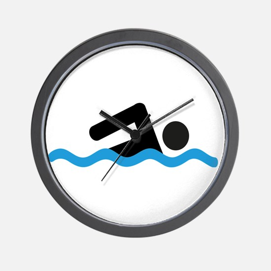Funny Swimmer Wall Clock