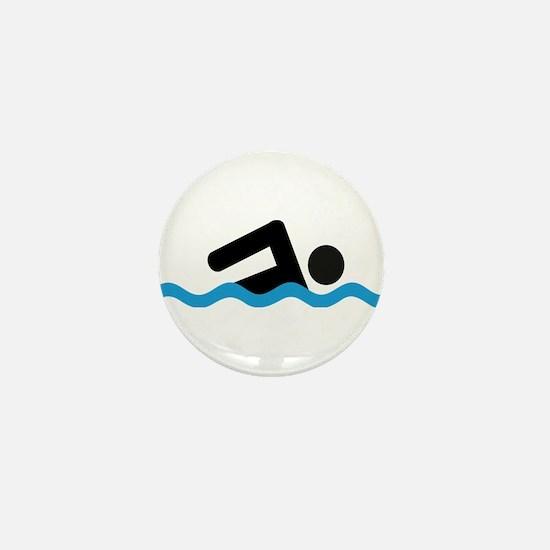 Unique Swimmer Mini Button