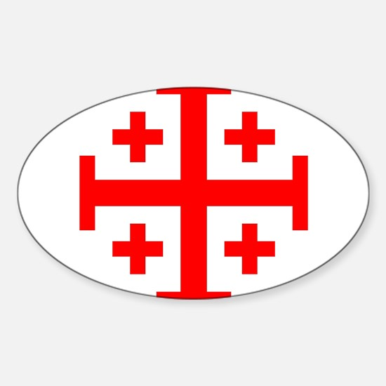 Crusaders Cross (Red) Rectangle Decal