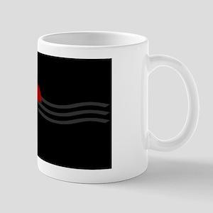 Red Umbrella Waves Mugs