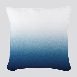 Beautiful Indigo Blue Ombre Woven Throw Pillow