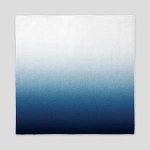 Beautiful Indigo Blue Ombre Queen Duvet