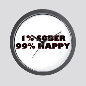 1% Sober Wall Clock