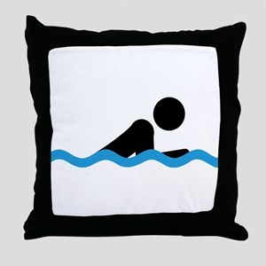 breaststroke Throw Pillow