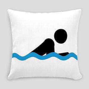 breaststroke Everyday Pillow