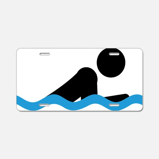 breaststroke Aluminum License Plate