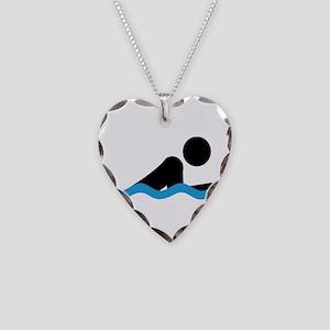 breaststroke Necklace Heart Charm