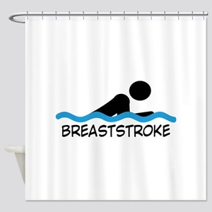 breaststroke Shower Curtain