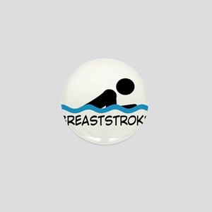 breaststroke Mini Button