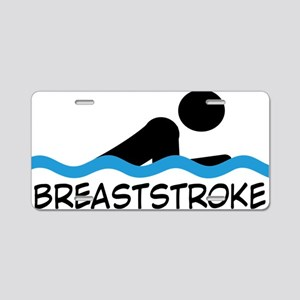 breaststroke Aluminum License Plate
