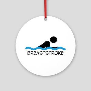 breaststroke Round Ornament
