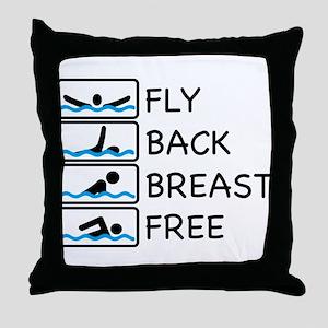 swimming Throw Pillow