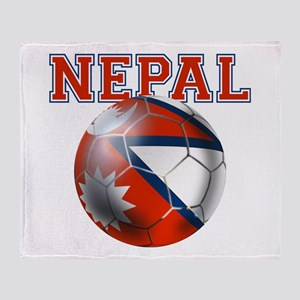 Nepal Football Throw Blanket