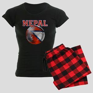 Nepal Football Women's Dark Pajamas