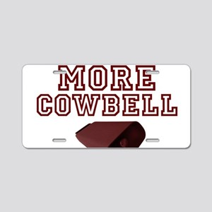 MORE COWBELL Aluminum License Plate