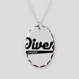 diver Necklace Oval Charm