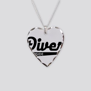 diver Necklace Heart Charm