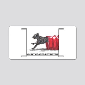 Curly Coated Retriever Agil Aluminum License Plate